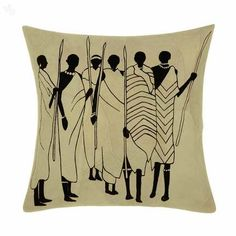 African Men Suede Leather Cushion Cover