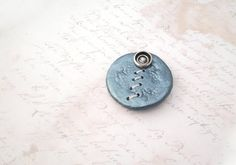 Turquoise Clay Button Brooch The Metallic Lace by P8ButtonArt, €14.00