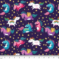 2dd4740dbc4 PAB Unicorns Cotton Lycra - Peek-a-Boo Pattern Shop Cotton Lycra Fabric,