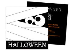 mummy halloween party invitation template