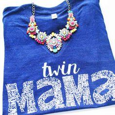 Twin Mama Tee - Indigo