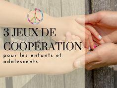 Les jeux de coopération sont fondés sur des principes de coopération plutôt que de compétition. Il n'y a donc ni perdants ni gagnants mais nécessitent un travail en équipe pour atteindre un but commun.