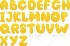 Cheese alphabet