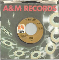 FREE 45 rpm All Right Now b/w Mouthful of Grass