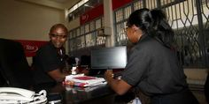 Mr Peter Mbugua, a businessman clarifies his tax details at the iTax Support Centre in Nakuru town. PHOTO | SULEIMAN MBATIAH | NMG Support Center, Fashion Articles, Did You Know, Centre, Lifestyle
