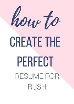 what to include on a sorority resume sororitypackets com go