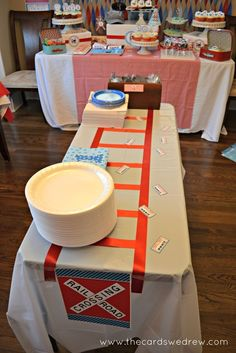 """Photo 17 of 37: Trains / Birthday """"Red and Blue Train Party"""" 