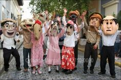 Cabezudos - San Sebastian Street Fiestas