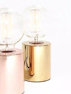 Stylishly simple, the Sil table lamp instantly brings a touch of industrial luxe to any interior. Compact and cylindrical in form, this sleek little table lamp is the perfect base to show off a decorative bulb #rosegold #gold #metallic #accessories #interiordesign #lighting #design