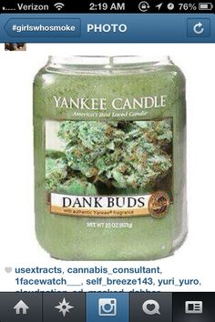 I love candles, having a weed candle is a bonus! Cool Stuff, Pipes And Bongs, Puff And Pass, Up In Smoke, Smoking Weed, Drying Herbs, Medical Marijuana, My New Room, Looks Cool