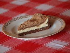 Čokoládovo-tvarohový koláč s drobenkou