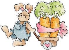 Mais coelhos de Páscoa | Imagens para Decoupage