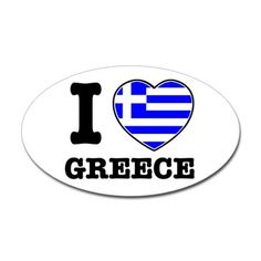 Shop I love Greece Rectangle Sticker (Rectangle) designed by rogerthat. Greece Travel, Need To Know, Caribbean, Spaces, My Love, Image, Beautiful, Design, Everything