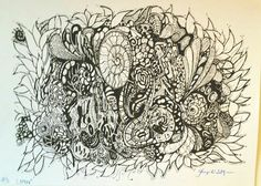 Feltpen drawing/tusj-tegning kartong) by Christine Finngaard Your Image, Decoupage, Moose Art, Skull, Tapestry, Drawings, Poster, Pictures, Design