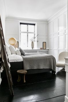 Glam Scandinavian apartment with gold touches