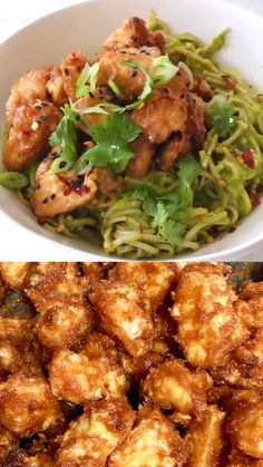 Recipes Easy Air fried peanut tofu bowl with soba noodles in a raw mango avocado sauce. Crispy caramelized edges and soft center piled up over the most luscious tropical noodles. Quick, easy and oil free! Veggie Recipes, Asian Recipes, Vegetarian Recipes, Chicken Recipes, Cooking Recipes, Healthy Recipes, Vegetarian Bowl, Cooking Videos, Vegetarian
