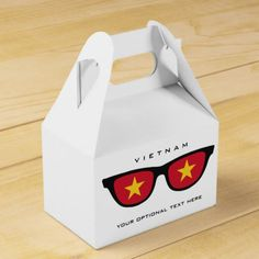 Vietnamese Shades custom text & color favor box