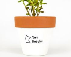 Modern personalized eco-friendly plant pots & by ChickadeePots Thank You Teacher Gifts, Teacher Christmas Gifts, Teacher Appreciation Gifts, Plant Pots, Succulent Pots, Potted Plants, Garden Gifts, Gifts For Family, Flower Pots