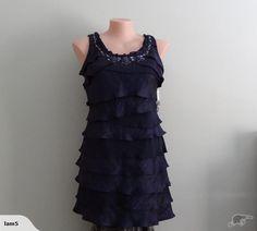 Blue Tiered Dress 16 NWT   Trade Me