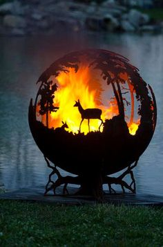 'Up North' Sphere Fire Pits - love this Buy here: https://www.etsy.com/listing/102235702/up-north-custom-outdoor-fire-pit-hand?ref=shop_home_feat