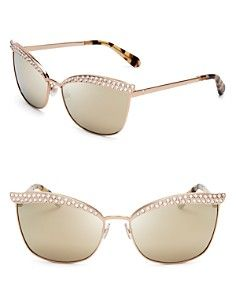 98de7f790af kate spade new york Leandra Mirrored Cat Eye Sunglasses Sunglasses Online