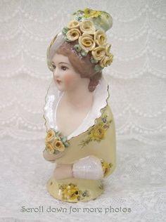 Porcelain Half Doll - Pincushion - Tara