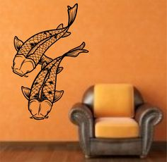 Koi Fish Version 102 Vinyl Wall Decal Sticker Art Decor Bedroom Design Mural fish by StateOfTheWall on Etsy https://www.etsy.com/listing/220352628/koi-fish-version-102-vinyl-wall-decal
