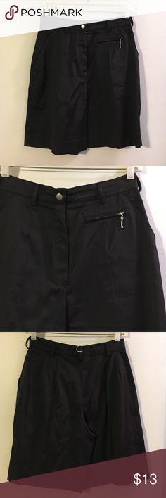 Tail tech knee length black shorts Flat front. Nylon/cotton/Lycra Tail Shorts