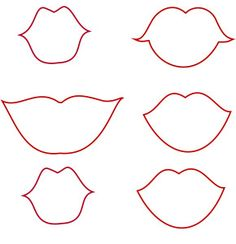 Lips Template Photobooth props
