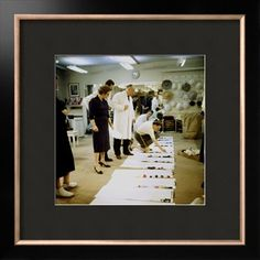 Fashion Designer Christian Dior Working on New Collection with Staff Prior to Showing Premium Photographic Print by Loomis Dean at Art.com