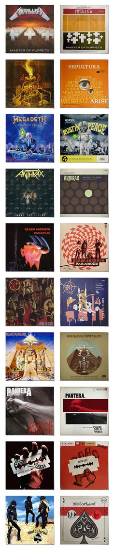 Classic Metal Albums Redesigned As 1950s Jazz Records. Too good.