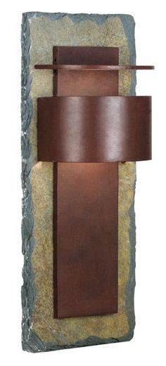 Kembra Slate Copper Modern 24-Inch-H Outdoor Wall Sconce - Euro Style Lighting