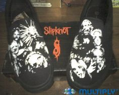 "Slipknot Custom Shoes....one word "" Badass"""