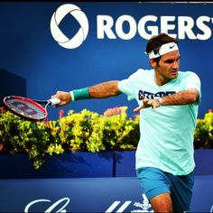 Roger Federer in Toronto, Canada for the Roger's Cup 2014 Tournament