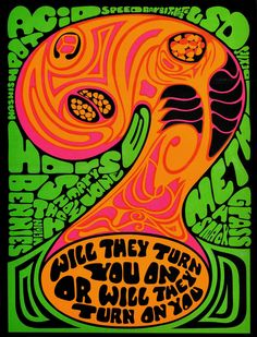 Back when LSD was mainstream. Exhibit A: The psychedelic cover to a Scholastic Book Club anti-drug pamphletExhibit B: An LSD audio documentary released by Capitol Records Exhibit C: An Art Buchwald. Psychedelic Rock, Psychedelic Posters, Kunst Inspo, Art Inspo, Retro Poster, Vintage Posters, Vintage Wall Art, Vintage Walls, Dope Kunst