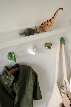 cute kids room decor. for my little girl i'd use other toys. great idea!