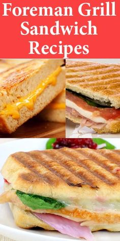 Your George Foreman Grill can make awesome grilled sandwiches too! Turn ordinary… Your George Foreman Grill can make awesome grilled sandwiches too! Turn ordinary into extraordinary with these delicious grilled sandwich recipes! Grill Sandwich, Grilled Sandwich Recipe, Panini Recipes, Panini Sandwiches, Grilled Chicken Recipes, Grill Panini, Grilled Meat, Vegetarian Sandwiches, Cold Sandwiches