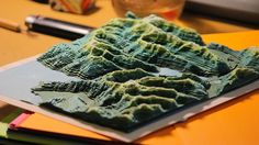 Landscape And Natural Forms On Paper Taal Lake Bathymetric