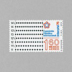 Exposición Filatélica Internacional. Mexico, 1976. Design: Rafael Davidson #mnh #mintneverhinged #mnh_mex #postagestamps