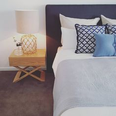 The Master Bedroom from our latest purchase package install. #Propertystyling…