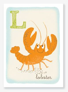 Lobster flash card