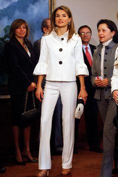 Spain's Princess Letizia during a bilateral economic forum in Bogota, Columbia, on May 28, 2009. By Jose Miguel Gomez/Reuters /Landov.