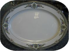 Aberdeen 10 in Oval Platter Noritake Noritake, Antique China, Aberdeen, Pie Dish, Platter, Chips, Porcelain, Tableware, Decorative Plates