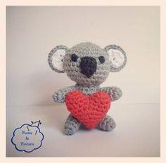 Koala amoroso * patron gratis amigurumi