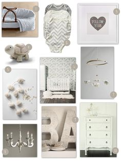 Baby Room Decorating Idea: All White #babyrooms #kids #decor
