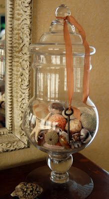 Here's an idea  with the shells that you collect from the sea, I want to do this with a shell I collect from every beach I visit.
