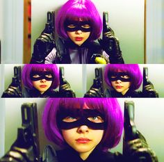 Chloe Moretz as Hit-Girl. (Kick-Ass, 2010)