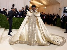 Met Gala 2021: Lil Nas X Pulled Off Three Regal Outfits on the Met Gala Carpet | Vogue Celebrity Look, Celebrity Dresses, Met Gala Red Carpet, Costume Institute, Celebs, Celebrities, Red Carpet Fashion, Lady Gaga, Nice Dresses