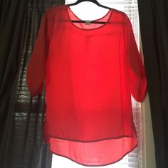100% Polyester Dressy Shirt Size L. Worn 3 times Tops Blouses