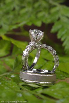 Wedding rings for a destination wedding in Maui, Hawaii.  Photo by www.TadCraigPhotography.com